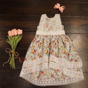 Floral dress girls size 4